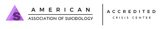 Suicide and Crisis Center of North Texas is accredited by the American Association of Suicidology